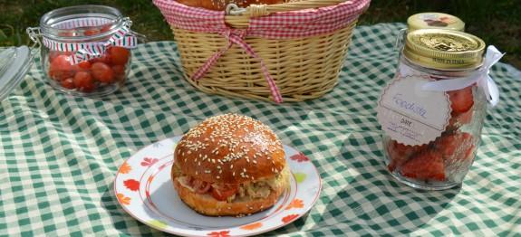 burger thon avocat tomate