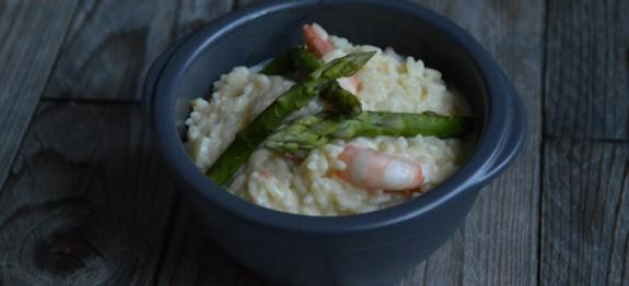 risotto aux crevettes et asperges des recettes gogo le fait maison. Black Bedroom Furniture Sets. Home Design Ideas