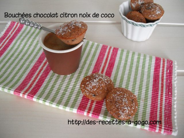 Bouchées Chocolat citron noix de coco