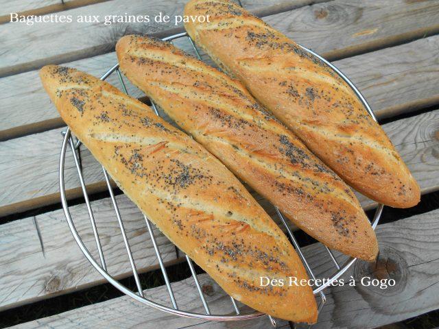 Petites baguettes aux graines de pavot