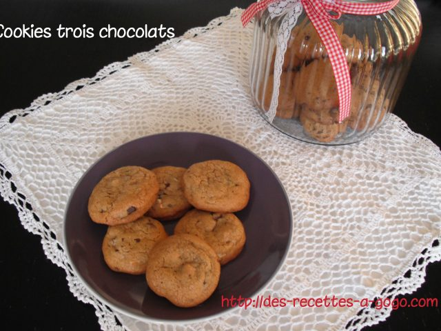 Cookies 3 chocolats