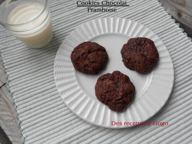 Cookies chocolat framboise