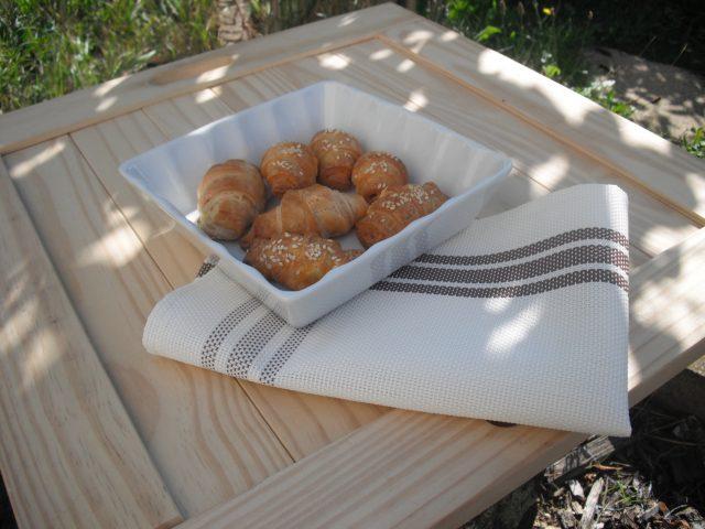 Mini croissants pour apéritif