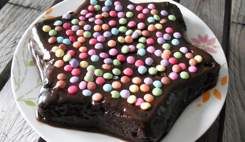Gâteau fondant au chocolat et smarties