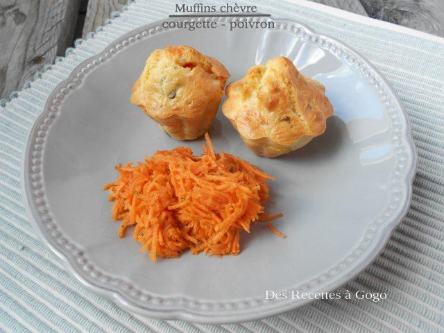 Muffins chèvre courgette poivron
