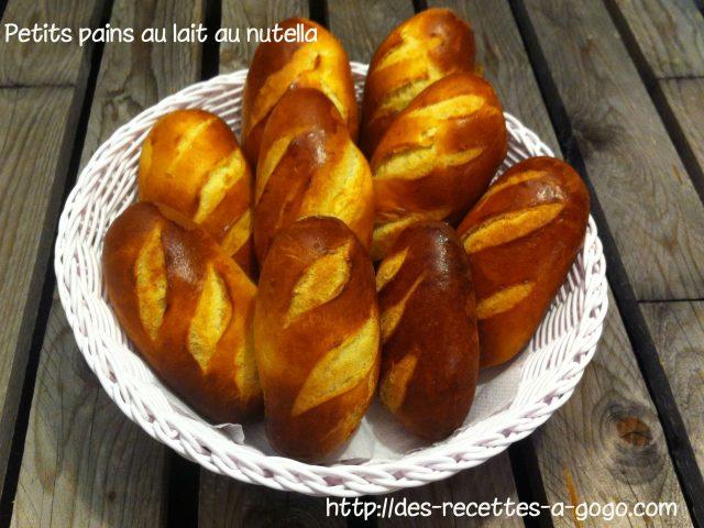 Petits pains au lait au nutella