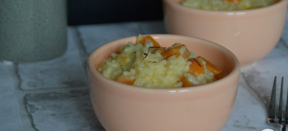 Riz a la courge butternut et safran
