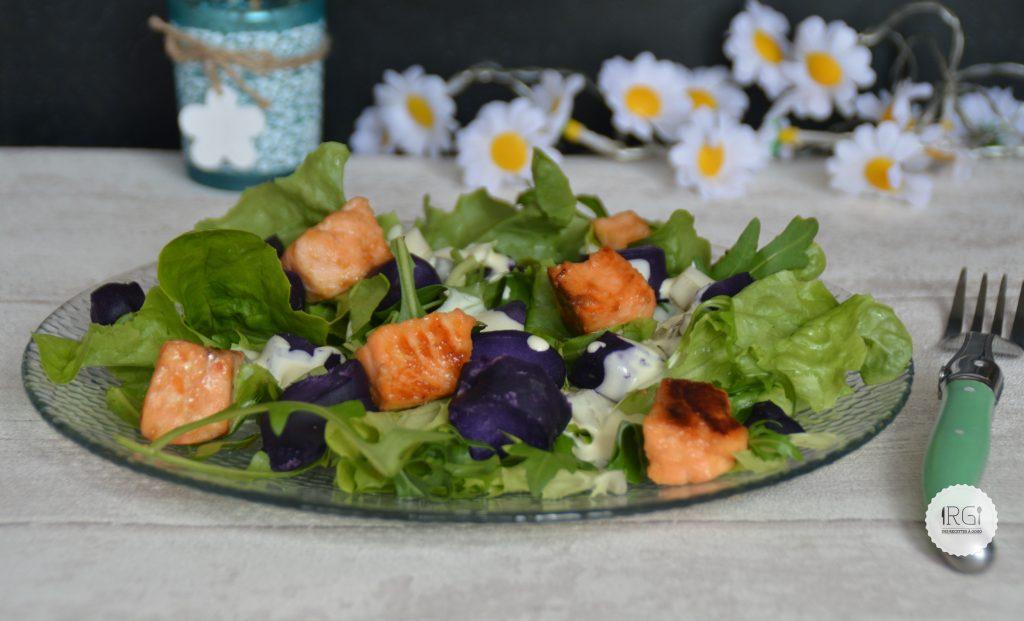 Salade saumon vitelotte