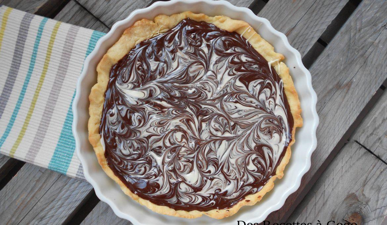 Tarte chocolat noir chocolat blanc