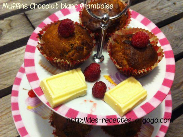 Muffins chocolat blanc framboise