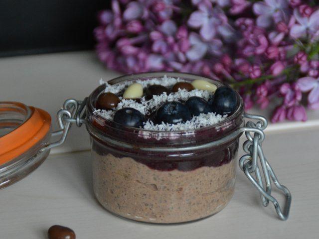 Chia pudding chocolat fruits rouges