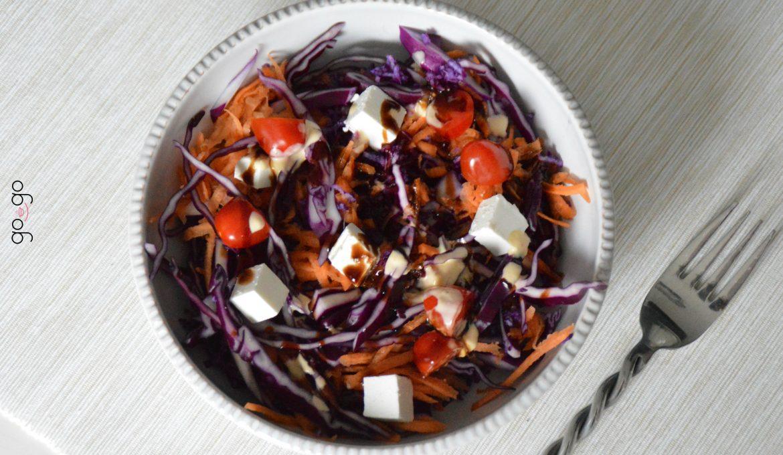 Salade chou rouge carottes