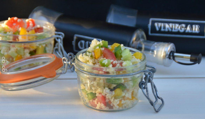 Salade de millet multicolore