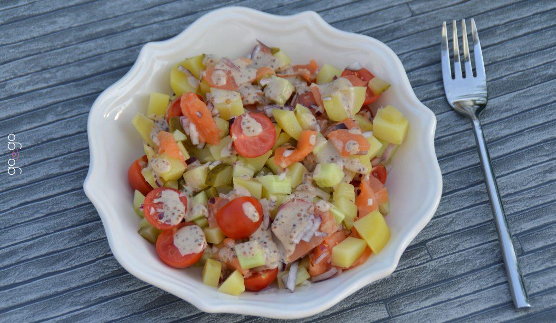 Salade de pomme de terre à la truite