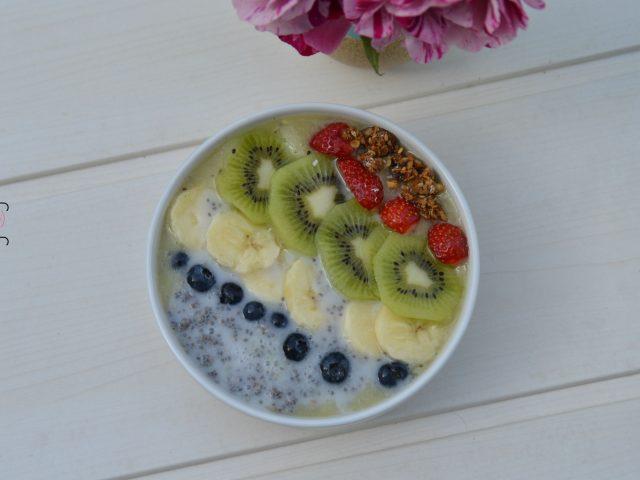 Chia pudding kiwi banane
