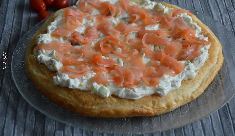 Tarte fraîche au saumon