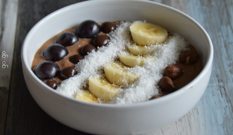 Porridge chocolat beurre de cacahuéte