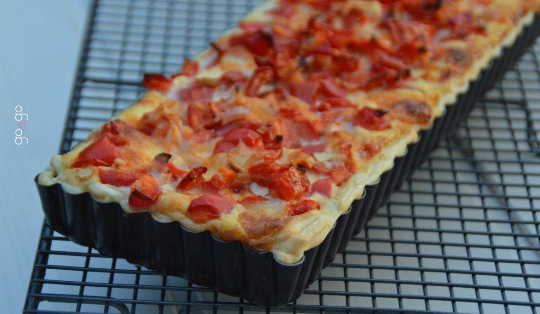 Tarte tomates poivrons mozzarella