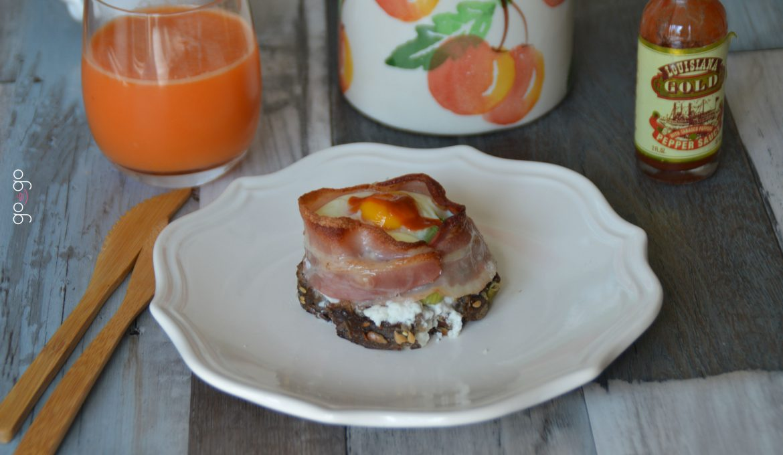 Tartine oeuf bacon