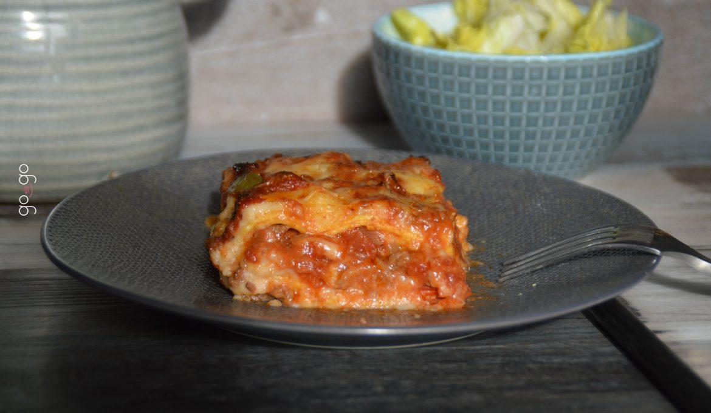 Lasagnes aux poivrons et tomates