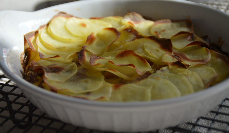 Croustillant de pommes de terre et harengs fumés