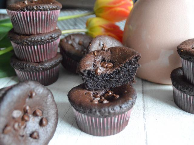 Muffins tout chocolat façon brownies