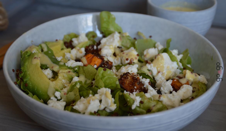 Salade de patates douces et quinoa rouge
