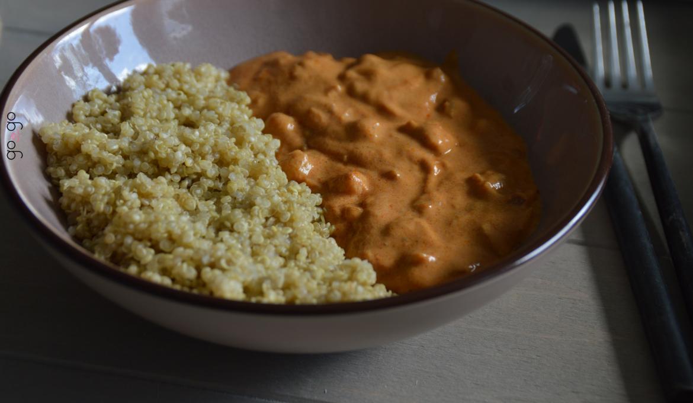 Curry de pois chiche au quinoa