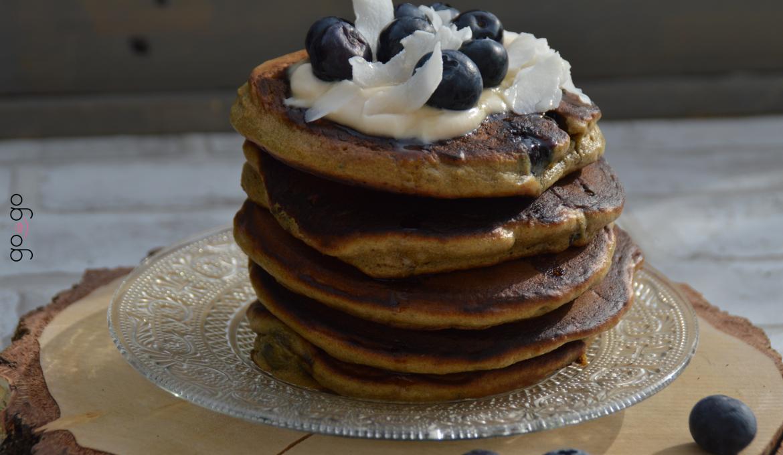 Pancakes myrtilles chocolat
