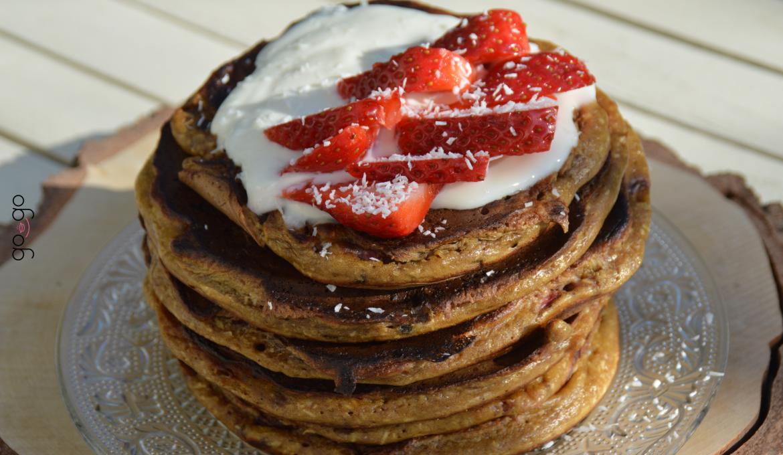 Pancake fraise coco