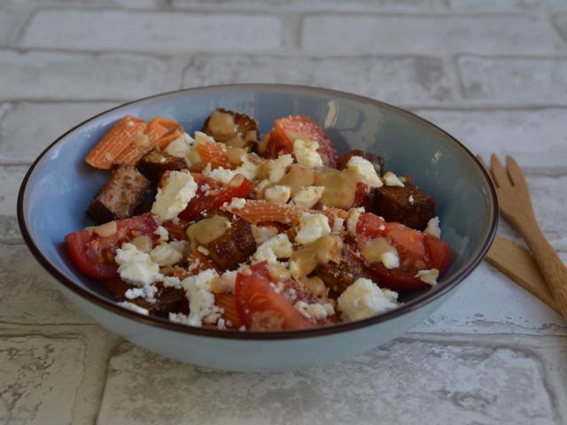 Salade de pates au tofu