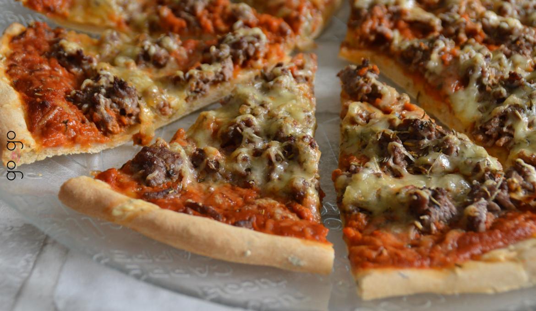 Pizza façon bolognaise